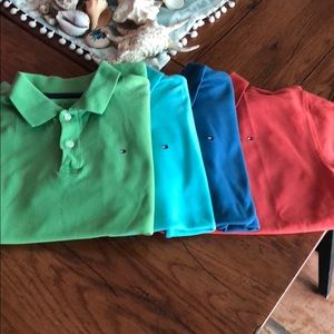 Tommy Hilfiger for boys 4pc shirt lot 12/14 polos